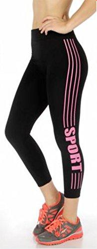 Stripes Slimming Workout Stretch Leggings