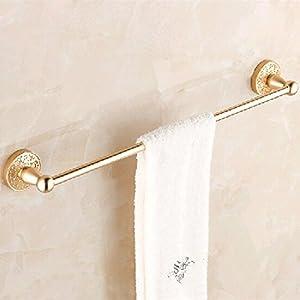 KHSKX Aluminum space carved Towel Bar towel bar bathroom hardware bathroom rose gold pendant durable modeling