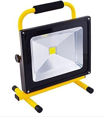 10-50W LED Flutlicht Strahler Akku Handlampe Scheinwerfer Aussen Camping Fluter