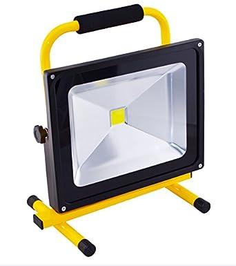 Projecteur Led 50 W Lampe De Travail Avec Batterie Blanc Froid