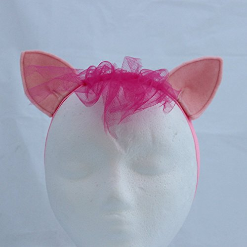 Pony Ears and Mane Headband - Pinkie Pie Pony Headband - Pinkie Pie Halloween Costume
