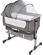 Bedside Sleeper Bedside Crib, Baby Bassinet 3 in 1 Travel Baby Crib