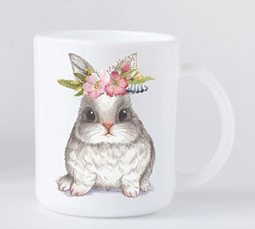 Easter Basket Gift – Plastic Mug with Bunny and Flowers