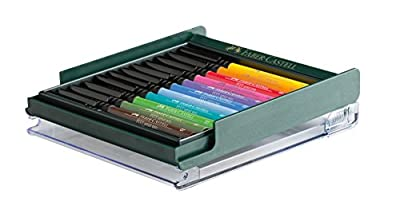 FABER CASTELL PITT Artist Pens Set: 12 Exclusive Brush Pens of the Finest Quality Permanent India Ink in Bold, Rich Colors