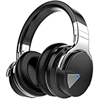 Cowin E-7 Wireless Bluetooth Over-ear Stereo Headphones with Microphone and Volume Control - Black