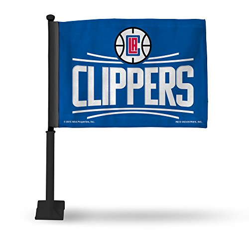 Rico Industries NBA Los Angeles Clippers Car Flag with Black Pole