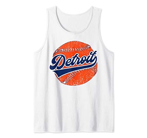 Detroit Baseball | Vintage Michigan Bengal Tiger Retro Gift  Tank Top ()
