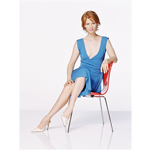 Sex and the City Cynthia Nixon as Miranda Hobbes Looking Good Seated in Chair 8 x 10 Inch Photo