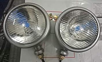 LH + RH Ford Tractor Head Light Set 12 V Blue