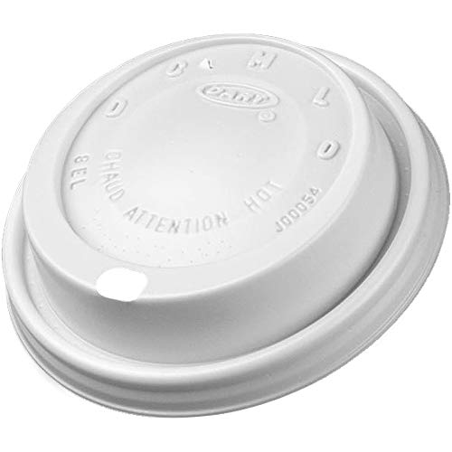 Fits 10 Ounce Cups - DCC8EL - Cappuccino Dome Sipper Lids, Fits 8-10oz Cups, White
