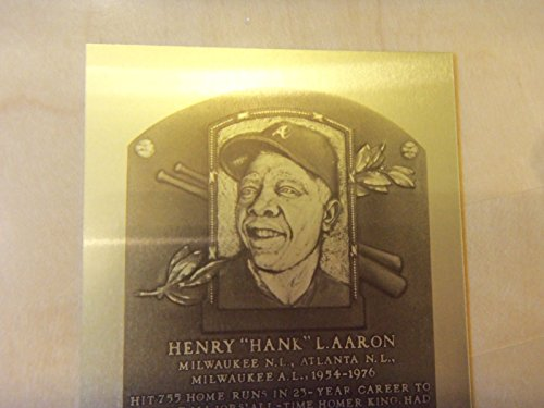HANK AARON or AL LOPEZ Limited Edition HOF Metallic Baseball Plaques(Only -