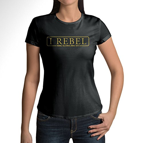 I Rebel-T Shirt Womens -Star Wars Inspired Black Rebels Rogue One (X-Large) 1 Vintage Inspired Tee