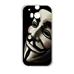 Printed Phone Case anonymous mask For HTC One M8 M2X3112216