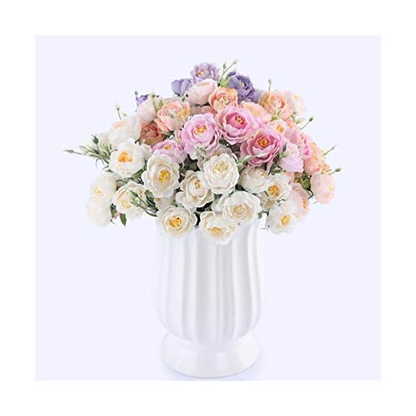 Rvbyjfg Artificial Bouquet Rose White Silk Fake Lotus Wedding
