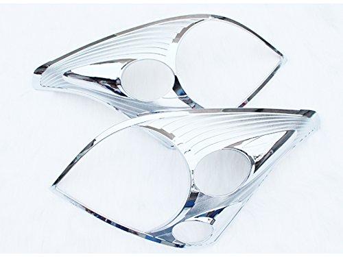 2pcs Front Headlight Headlamp Cover Trim ABS Chrome For Toyota Prado FJ120 2003-2009 (Toyota Prado Lamp compare prices)