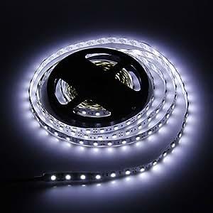 Ledtcx 5M 60W 60x5050SMD 3000-3600LM 6000-7000K Cool White Light LED Strip Light (DC12V)