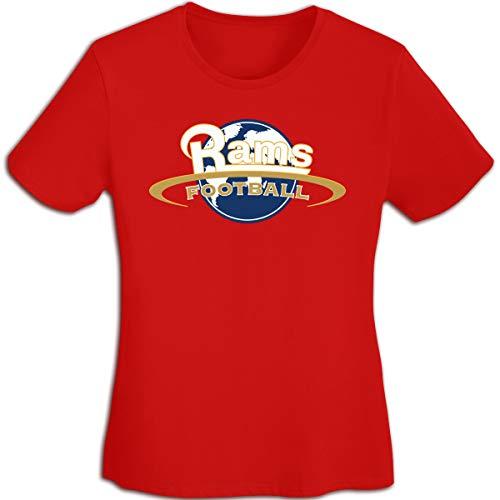 (MiiyarHome Women's T-Shirts St. Louis Rams, Girls Tee Short Sleeves Ladies Teen Jersey Shirt Red M)