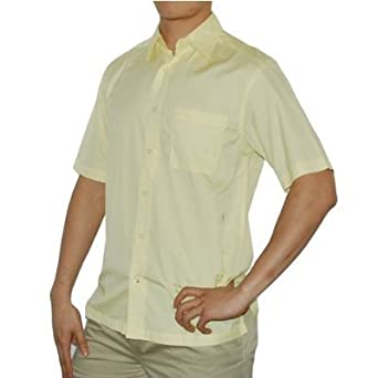 be16af6d8b Mens Tommy Bahama Indigo Palms Denim Co. yellow casual shirt including a  single front chest