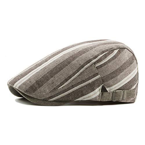 Lengua qin de Pato Unisex Salvaje Lino la de Boina hat Hombres Sombrero algodón de Rayas Delantero y Las Sombrero Sombreros de GLLH los A de C del qwd8BCqv