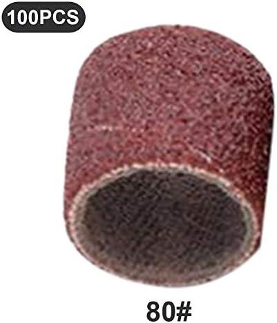 100ピースサンドペーパーリングサンドリング研削ヘッド研磨ウッドウッドメタル防錆プラスチックモデル核彫刻オリーブ核電動グラインダーアクセサリー