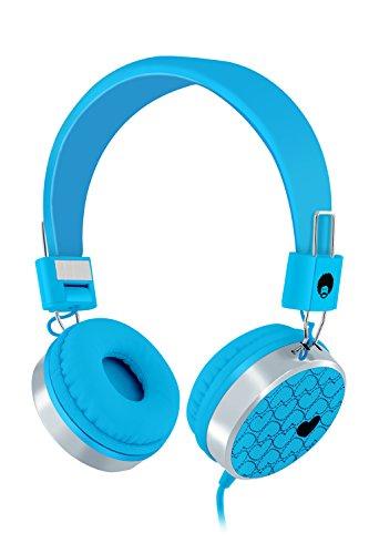 RockPapa 878 On Ear Love Hearts Headphones Foldable, Adjustable Headband for Kids/Adults, iPod iPhone iPad Mini iPad Air, Surface Laptop DVD MP3/4 Blue