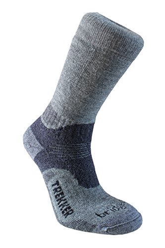 Bridgedale Men's Hike Midweight Boot Height - Merino Endurance Socks, Grey/Dark Grey, Medium ()