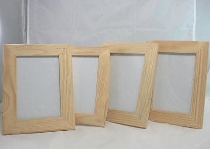 Portafoto in legno grezzo cm est riniture cornice