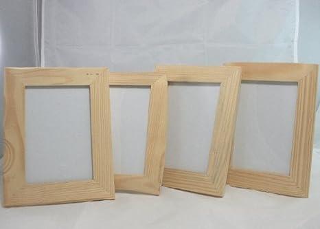 Portafoto in legno grezzo 13x17 cm est. 4 riniture cornice diverse