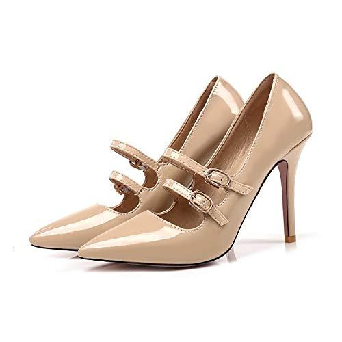 Charol Heel Heels Basic de ZHZNVX Comfort de Verano Red Red Pink Zapatos Almond Pump Stiletto Mujer qpWPnwaIxP