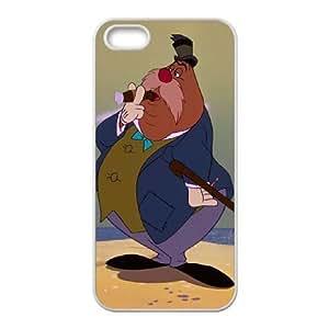 iPhone 5,5S Phone Case White Alice in Wonderland The Carpenter DZW9571710