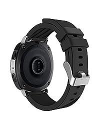 Gear Sport / Gear S2 Classic Watch Band, MoKo 20mm Soft Silicone Strap for Samsung Gear Sport SM-R600 / Gear S2 Classic Smartwatch, Black