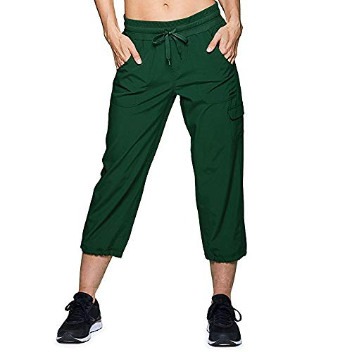 - Womens Casual Pants Baggy Pockets Walking Cargo Lightweight Pants Trousers Army Green