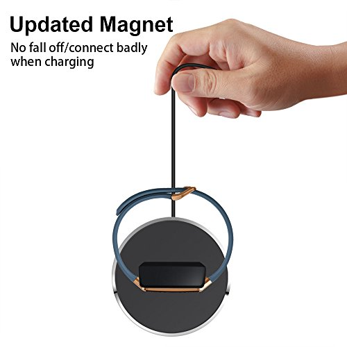 For Fitbit Ionic Charger, Epuly for Fitbit Ionic Accessories Women Men Charging Stand/Dock/Station/Holder/Cradle with 3 feet Charging Cable for Fitbit Ionic Smartwatch Black/White