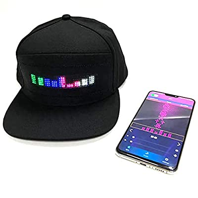 Glow Products Animated Light Up LED Hat with Smartphone Control: Clothing