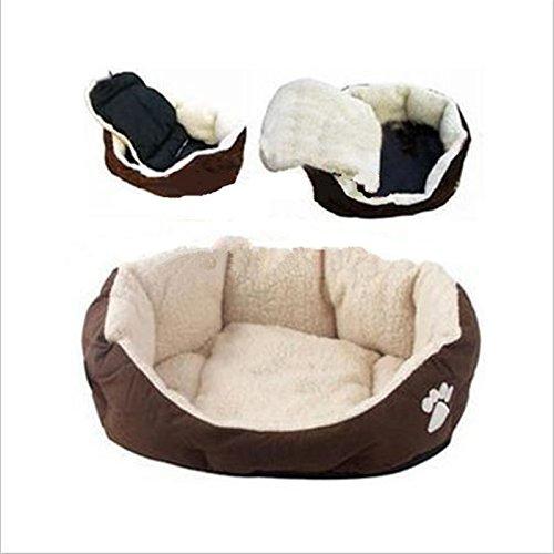 Lingstar Lamb Down Fabric Pet Kennel Pet dog house The dog mat