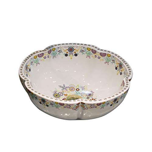 Bathroom Creative Vanity Basin, European Ceramic Petal Shaped Counter Basin - Wash Basin Mounted On The Counter - Art Washbasin
