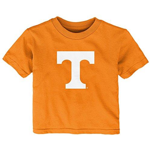 Light Vols Tennessee (Gen 2 NCAA Tennessee Volunteers Infant Primary Logo Short Sleeve Tee, 24 Months, Light Orange)
