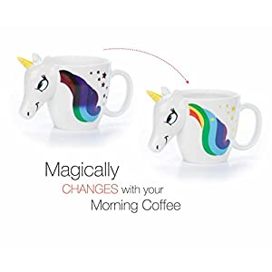 Color Changing Unicorn Mug – 3D Coffee Mugs Rainbow Design, Your morning cup of coffee or tea will never be the same! Our ceramic mugs will start your day with magic rainbows. Great Unicorns Presents!