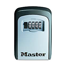 Master Lock Lock Box, Set Your Own Combination Wall Mount Key Safe, 3-14 In. Wide, 5401d
