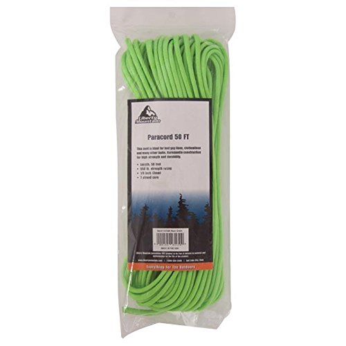 Liberty Mountain Paracord, Neon Green, 50-Feet by Liberty Mountain (Image #1)
