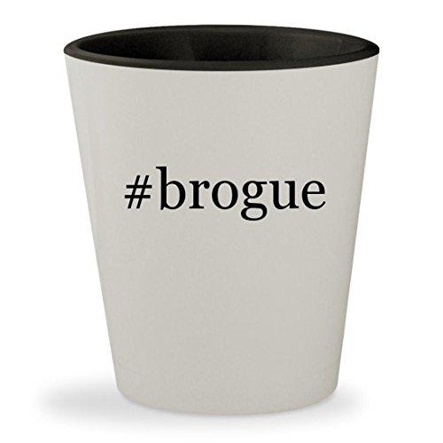 #brogue - Hashtag White Outer & Black Inner Ceramic 1.5oz Shot - Twitter Brown Doc