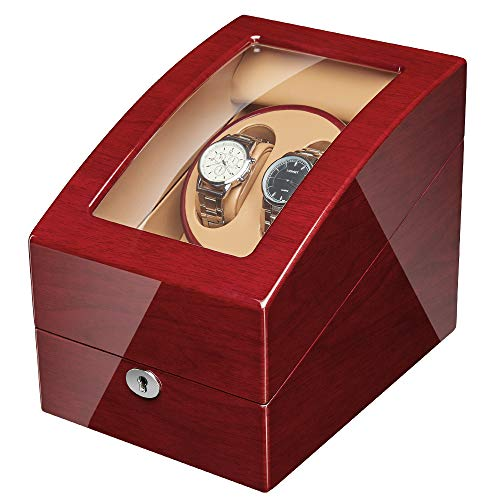 JQUEEN Automatic Watch Winder 2+3 Wood Storage Display Case Box