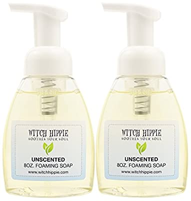 Unscented Organic Foaming Hand Soap 8oz by Witch Hippie Sensitive skin formula