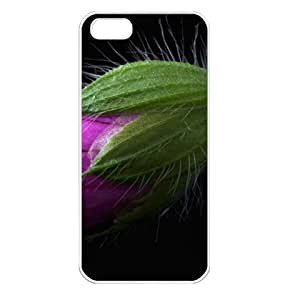 CaseSuper Pink Flower Bud Designs Flowers Apple iPhone 5S Seamless Case (White)