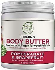 Petal Fresh Pure Firming Pomegranate & Grapefruit Body Butter, Organic Coconut Oil, Argan Oil, Shea Butter