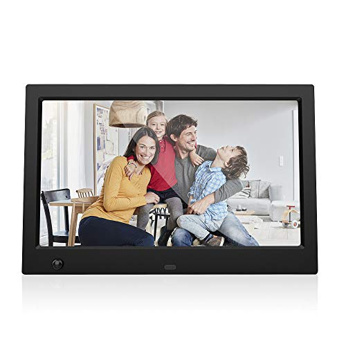 Digital Picture Frame Tomia 10.1-inch HD Digital Photo Frame with Motion Sensor 1080P HD Resolution Desktop Display Image MP4 Video Support