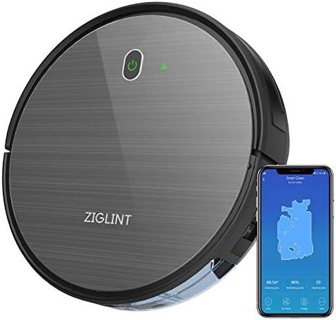 ZIGLINT D5 로봇 청소기 자동 충전 Alexa Google 홈 연결 예약 청소 시스템 카펫 청소 WiFi 지원 앱 제어 강력 흡입 1800PA 낙하 충돌 예방 다크 그레이 【 2 보 ? 】 / ZIGLINT D5 Robot Vacuum Cleaner Automatic Charging Alexa Google Home Conn...