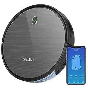 ZIGLINT D5 Robot aspirapolvere WLAN con Navigazione Intelligente Potenza di aspirazione 1800 Pa Controllo Alexa/App… 6 spesavip