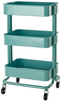 Ikea Raskog Chariot De Cuisine Turquoise 35x45x78 Cm Amazon