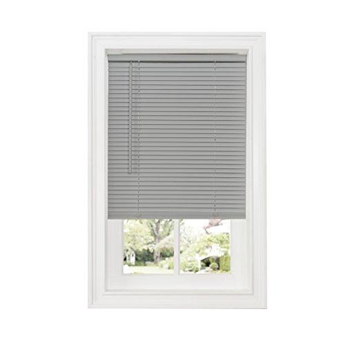 Achim Home Furnishings Cordless GII Deluxe Sundown 1″ Room Darkening Mini Blind, 34″ x 64″, Gray